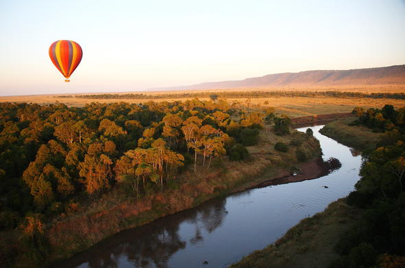 Optional hot air balloon safari Masai Mara.