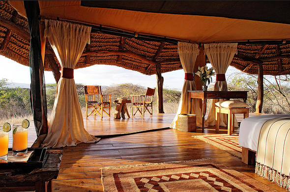 Spacious tented accommodation with a view. & Lewa Safari Camp | Private En-Suite Safari Tents (Accommodation)