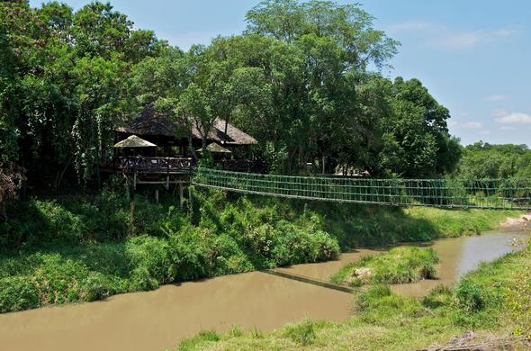 Mara Intrepids Camp is neatly tucked away in lush greenery.