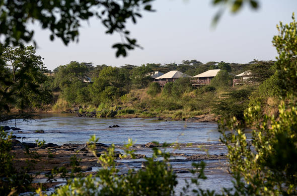 Located under a canopy of trees in Masai Mara North Conservancy.