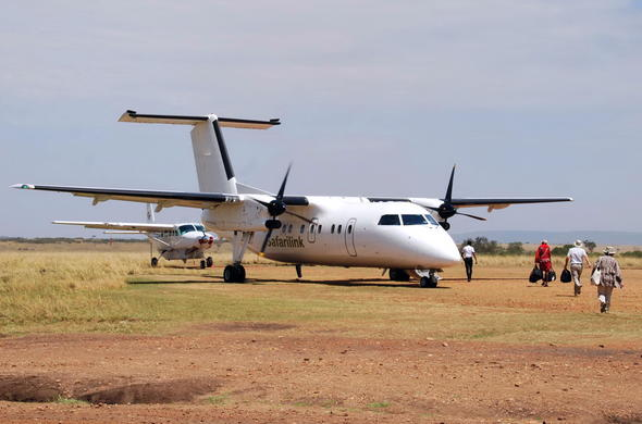 Air transfer from Amboseli to Masai Mara via Nairobi.
