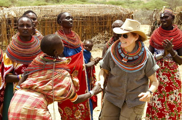 Meeting local Samburu community members.