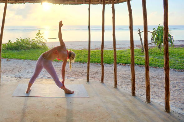 Yoga and wellness on your Diani beach holiday.