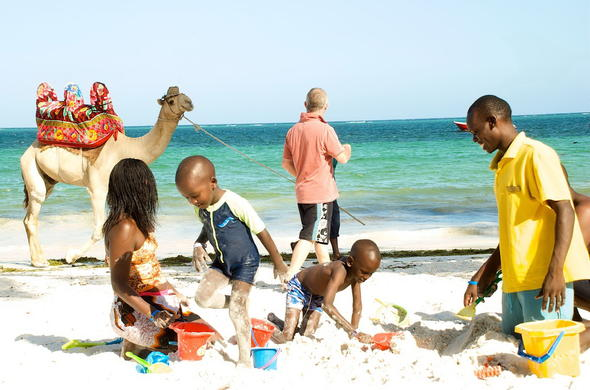 Mombasa Beach activities.