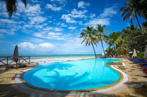 Mombasa hotel accommodation with infinity pool.